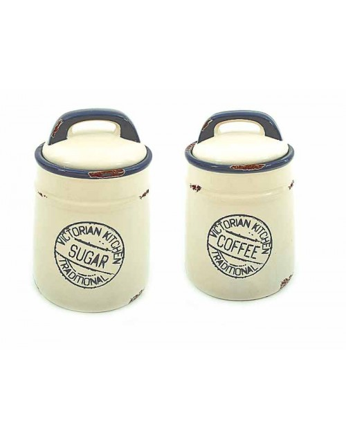 SET 2 JARS (17*12 CM.) SUGAR COFEE 5-404