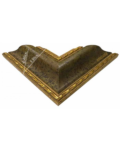 WOODEN FRAME (8.8 CM.) GREEN BRONZE 1025