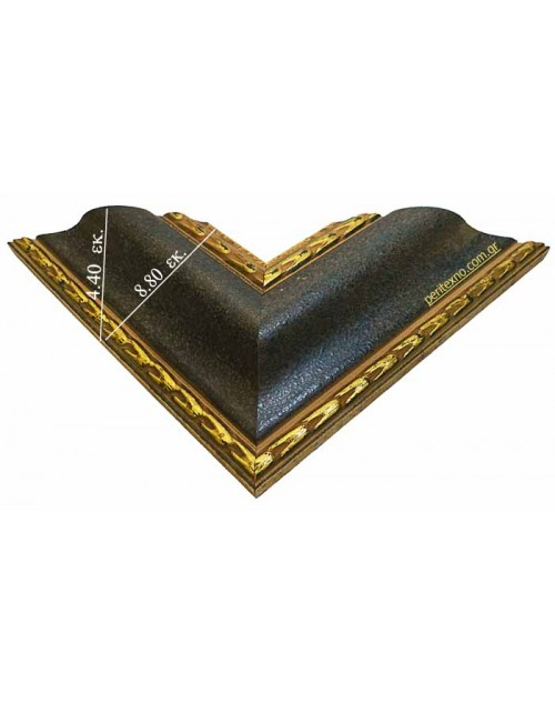 WOODEN FRAME (8.8 CM.) DARK BLUE GOLD 1024
