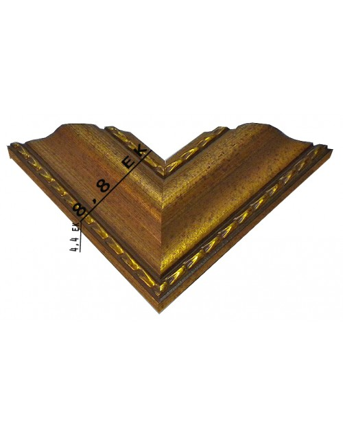 WOODEN FRAME (8.8 CM) CARVED BRONZE 1030