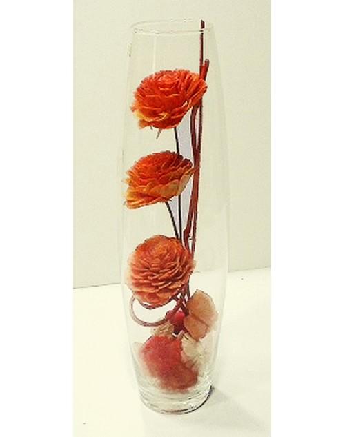 βάζο 40*10 εκ. αποξηραμένο λουλούδι 15-80