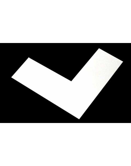 Πασπαρτού για κορνίζες, λευκό 01