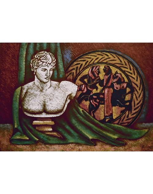 πίνακας ζωγραφικής 50*70 εκ. αρχαίο πνεύμα 480