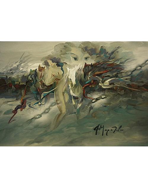 πίνακας ζωγραφικής 50*70 εκ. γυμνό 476