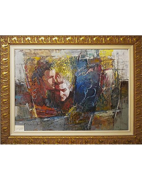 Πίνακας ζωγραφικής 50*70 εκ. πρόσωπα 499