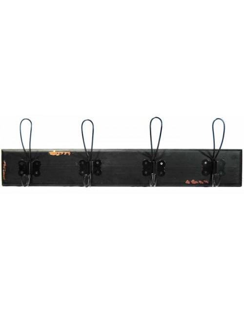 Κρεμάστρα 60*16*8 εκ. μαύρη ξύλινη 11-320