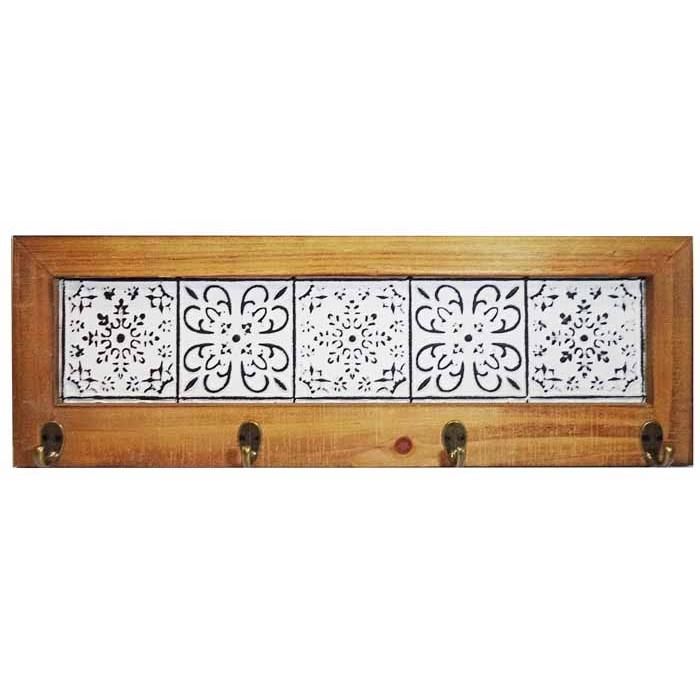 Κρεμάστρα 57*19*4 εκ. ξύλο μέταλλο 19-32