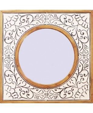 Καθρέπτης τοίχου 81*81*4,5*48 εκ. ξύλο μέταλλο 19-46