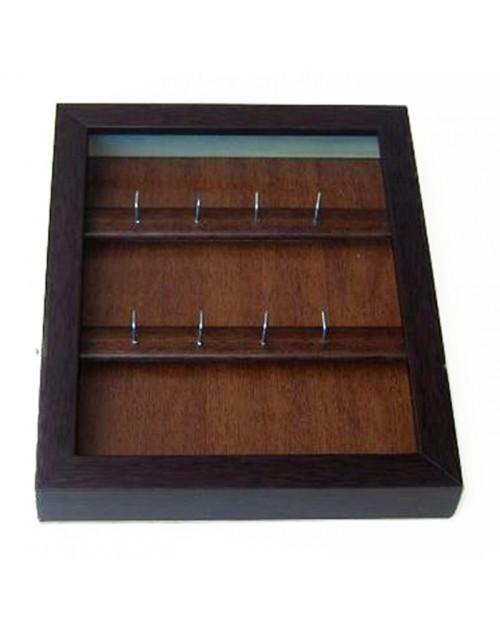 Κλειδοθήκη τοίχου 26,50*21,50*4 εκ. ξύλο wenge 1368wk
