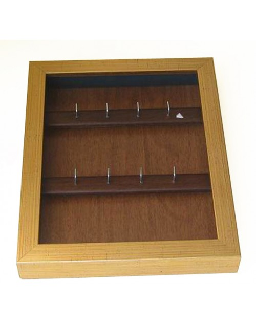 κλειδοθήκη τοίχου 26,50*21,50*4 εκ. ξύλινη χρυσή 1369wk