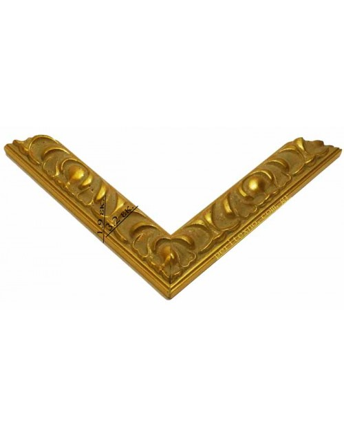WOODEN FRAME (3.2 CM.) CARVED GOLD M3256-ORO