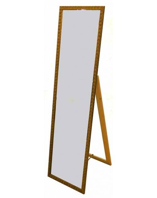 Καθρέπτης δαπέδου 151*39*47 εκ. σκαλιστή ξύλινη χρυσή κορνίζα 09-85