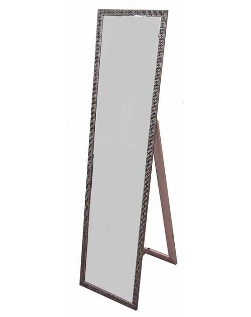 Καθρέπτης δαπέδου 151*39*47 εκ. σκαλιστή ξύλινη ασημί κορνίζα 09-81