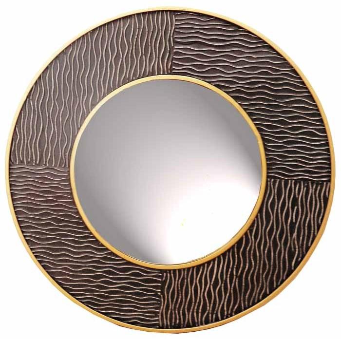Καθρέπτης στρόγγυλος 80*3,5 εκ. μεταλλικός μαύρος 27-69
